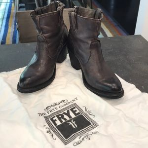 FRYE ankle boots with back ankle zipper
